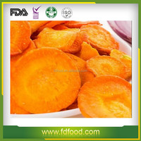 Freeze Dried vegetable Frozen Sliced Carrots FD carrot dice