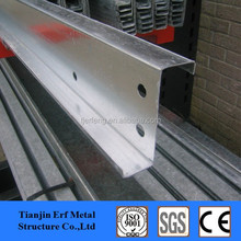 galvanized steel z purlin channel with perforated holes