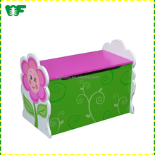 OEM children indoor cheap wooden toy box