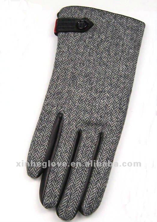 sheep leather skin gloves fashion working gloves with knitting back gloves