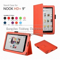 PU leather case cover for NOOK HD+ 9""