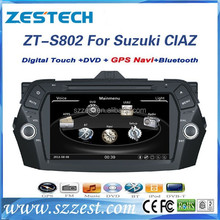 ZESTECH Factory OEM 2015 digital tv tuner MP3 mp4 player 1080P car audio for suzuki Keietsu