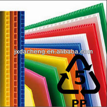 100% vingin material&recycled material polypropylene hollow board/pp hollow corrugated board