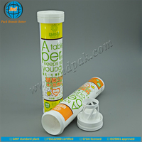 JND hot sale PP supplement tablet tubular bottles with cap and dessicant with FSSC22000 certified by GMP plant