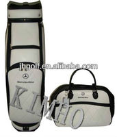 Benz white golf bags with clothes bag