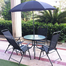 Patio Garden Furniture Outdoor Dining Sets with Parasol