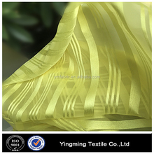 Polyester satin stripe organza for window curtains