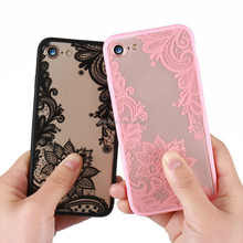 Sexy Retro Floral Mandala Phone Case For Apple iPhone 7 6 6Plus Lace Flower Hard PC TPU Cases Back Cover Capa For iPhone 7Plus