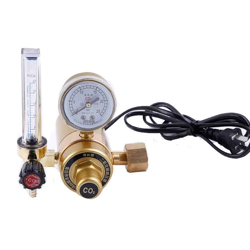Meter attached carbon dioxide co2 regulator