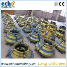 high quality Metso cone crusher spares wear parts HP4,HP5,HP100,HP200,HP300,HP400,HP500 concave,bowl liner and mantle