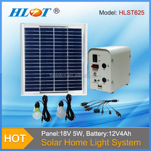 Helist Portable Solar 5W Power Systerm Kits/Solar home System