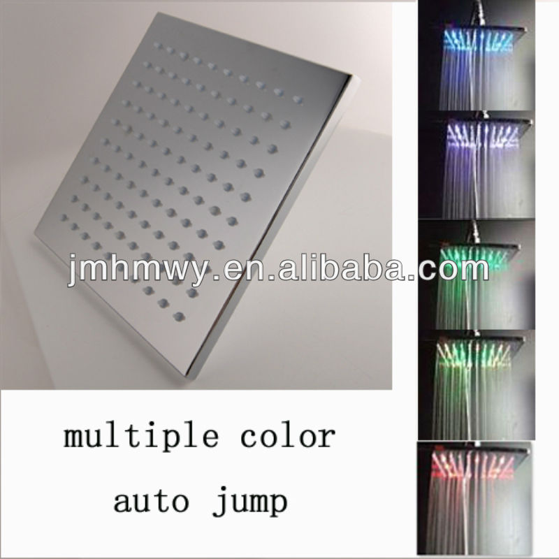 new amazing automatic 16 leds change by time led overhead shower