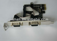 2013 Factory supply PCI-E 2 Serial RS232 With Parallel port
