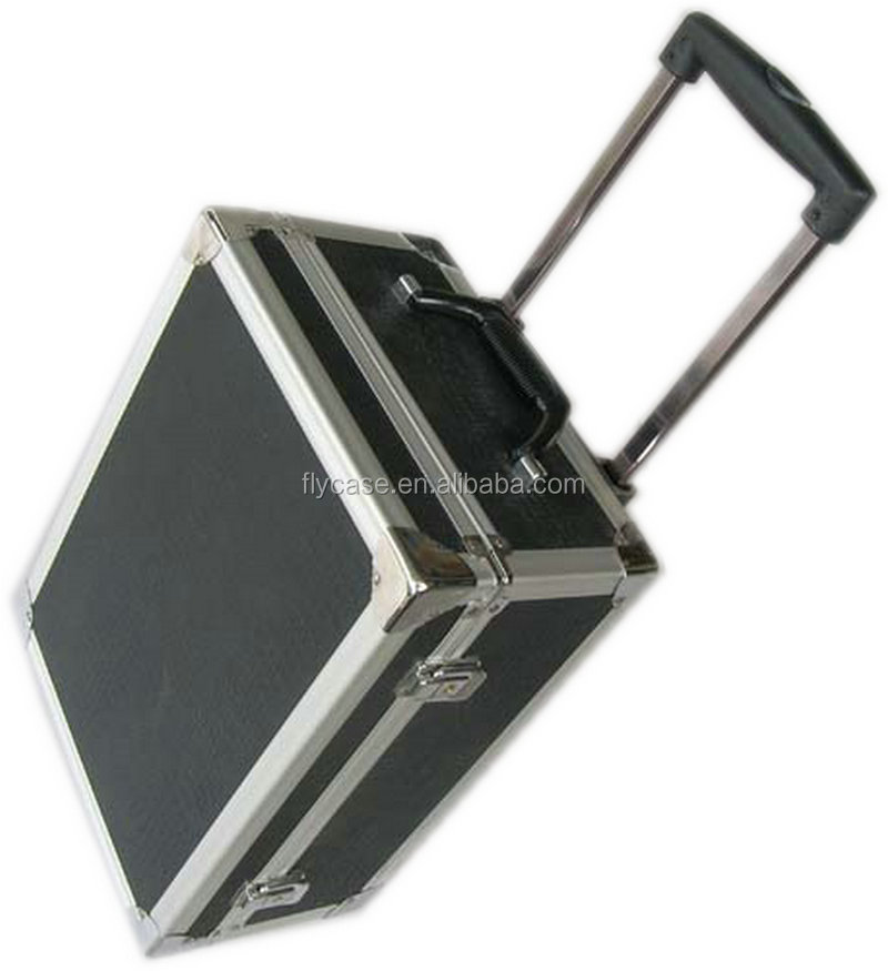 Custom-made cheap aluminium trolley case carrying case for nail