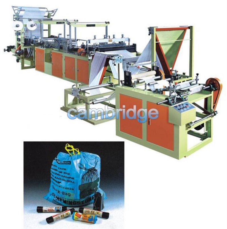 Draw Tape Continuous Rolling Garbage Bag Machine