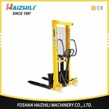 Adjustable forks hydraulic hand lift pallet stacker/manual stacker