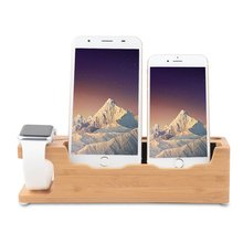 For Apple Watch Stand, Bamboo Charging Stand Charger Dock Station Cradle Holder for Apple Watch Stand for iPhone7/7plus/6s Plus