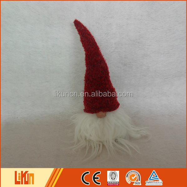 Wholesale specialized made Christmas decoration sewing fabric santa head