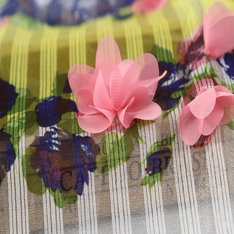Alibaba china 3D flower embroidered organza new york wholesale fabric lace