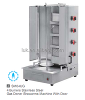 4 Burner Vertical Broiler Gas Shawarma Machine