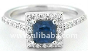 Gorgeous Round Cut Real & Natural Blue Diamond Designer Solitaire Ring