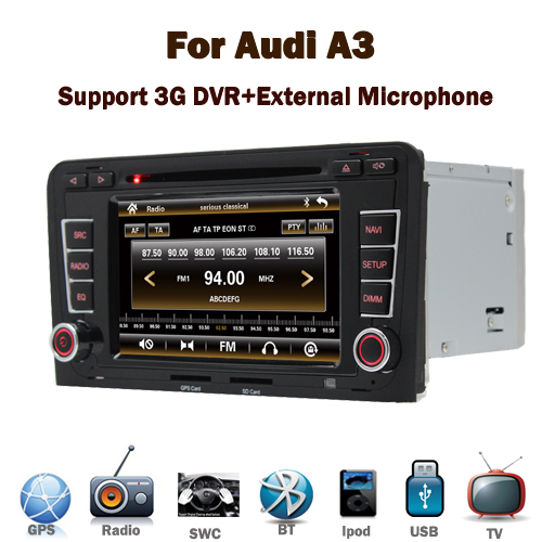 Good quality small order accept car dvd gps navigation system for Audi A3