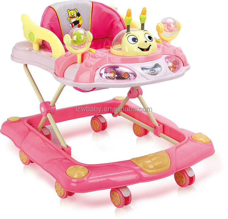 (Model:238-7) liangzaiwang new model multi-function swuvel wheel baby walker