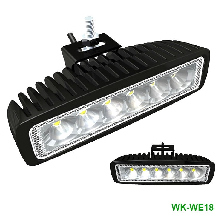 18w IP67 waterproof mini led light bar off road driving PC lens aluminum housing cheap led work light for SUV ATV boat