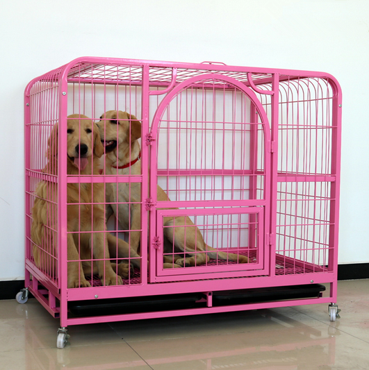 made in china large foldable steel tube wire dog cage