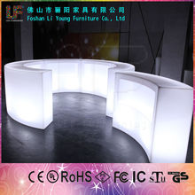 Modern outdoor PE plastic led light up <strong>bar</strong> tables outdoor event tables illuminated round cheap <strong>bar</strong> table sets