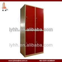 High quality 4 door hotel storage use metal wardrobe armoire,metal armoire wardrobe