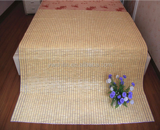 New design roll up knitted bamboo bed sleeping mat with pillow