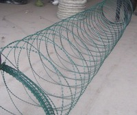 BTO-10 Razor Wire ,Concertina razor wire galvanized or PVC coated