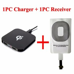 new Qi Wireless Charger and Receiver for iPhone Plus Easy to Carry for iPhone 5s 5c 5