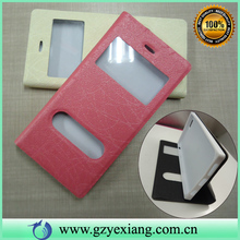 for galaxy e5 mobile phone leather cover, smart flip case for samsung e5
