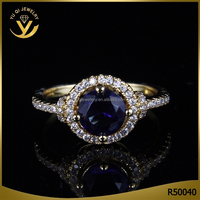 Wedding Engagement Sapphire Jewelry Rose Gold Plated Zircon Marriage Rings