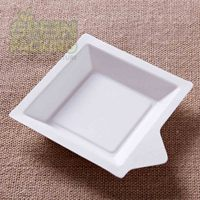 Sugarcane fiber pulp disposable paper cake tray