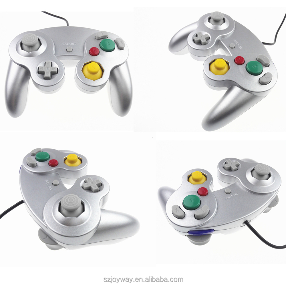 Silver color For Nintendo Gamecube NGC Wired Shock game Controller, Joypad