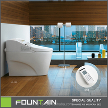 High End Auto Washing and Cleaning Function Automatic Intelligent Toilet with Controller Floor Mounted Smart Toilet