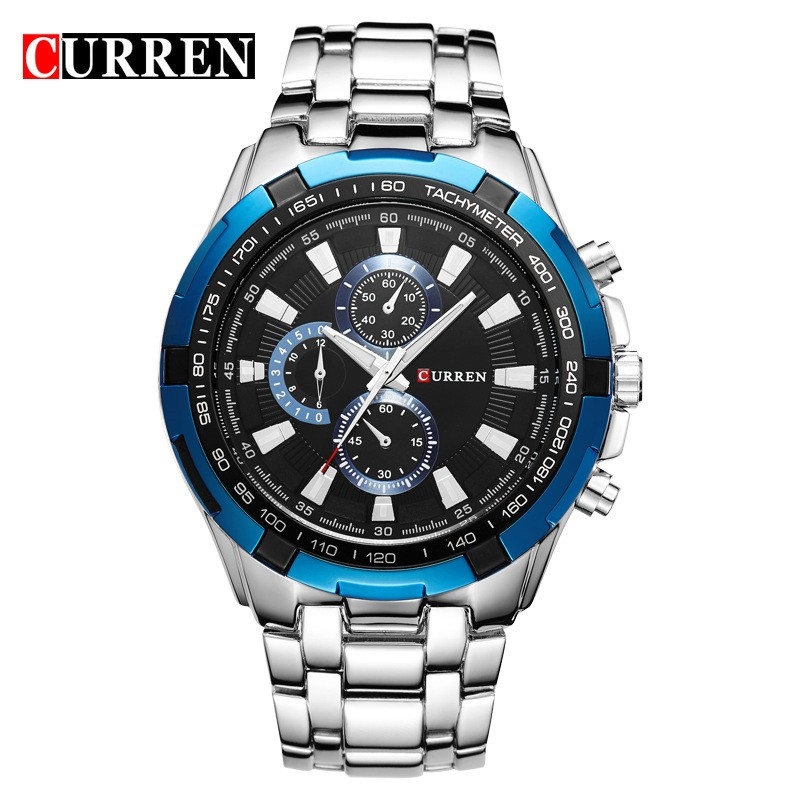 hot business stainless steel band watch for men imported quartz watch hot relogio masulino luxury curren brand 8023 wristwatches