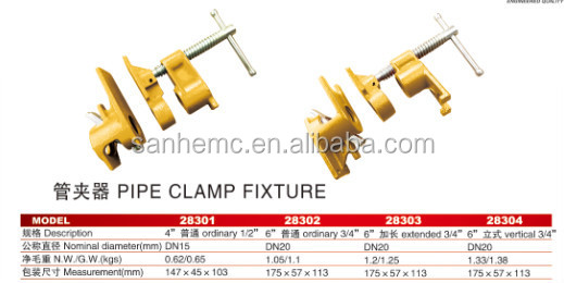 supplier for light pipe welding clamp fixture for lathe 28301