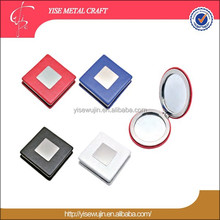 Wholesale mirrors Factory Square Pu Small hand held mirrors Compact Pocket mirror products in demand 2016