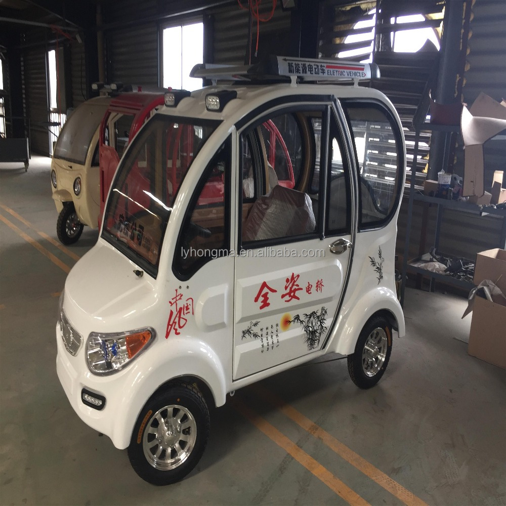 2017 hot-selling new energy electric car without driving licence with wheel steering