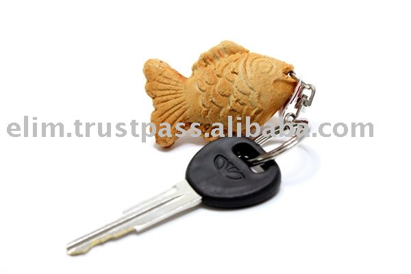 G2039 Fish-Shaped Bun Fashion Key Chain