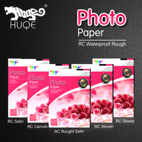 2015 HUQE premium RC glossy satin rough satin woven canvas waterproof 260gsm A4 inkjet photo paper