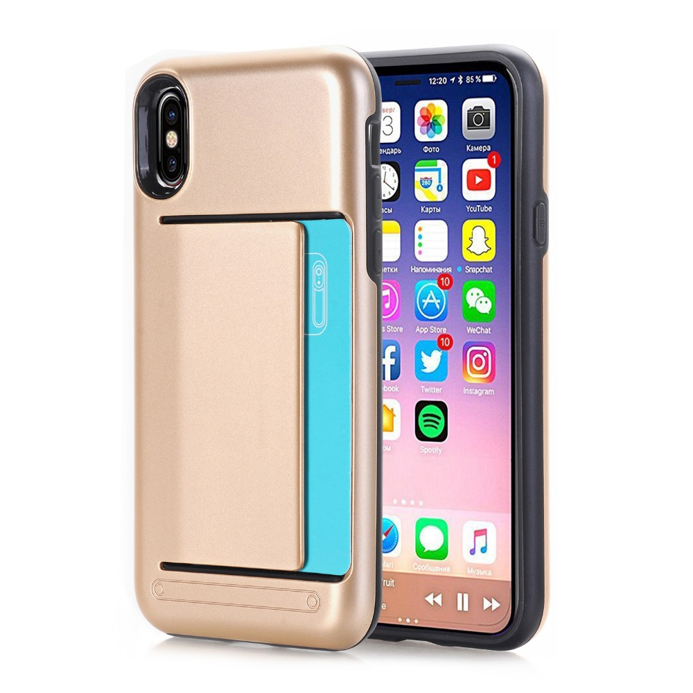 New Release Hot Selling Products Wallet Case with Card Holder for iPhone X