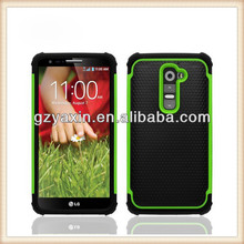 Hot selling football design hybrid pc silicone case for lg optimus g2,shockproof heavy duty case cover for lg g2