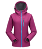 Breathable Waterproof fleece lined bonded lady softshell jacket soft jacket soft coat with hood