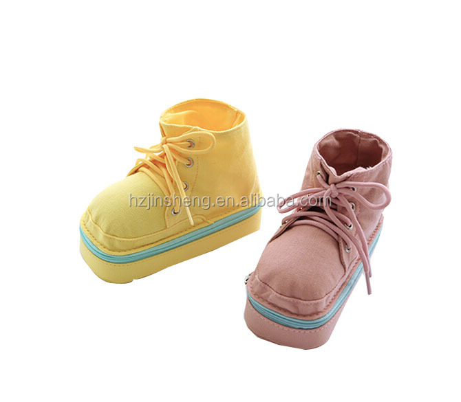 creative shoe shape canvas pencil bag stereo pen holder