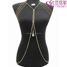 Shoulder Necklace Exotic Bra Chain Harness Slave Body Chain Jewelry Making Supplier Non-allergenc Body Jewelry YMBD2-279